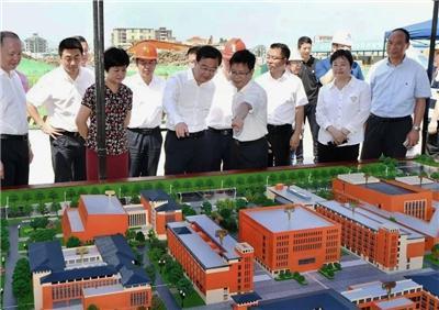 中大奖app委副书记、市委书记王宁来到我司负责施工的福州三中滨海校区项目现场检查工作